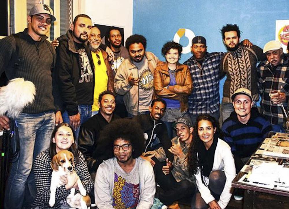 AfroReggae gravando o Conexões Urbanas na Casa FdE Sul, com Mestres Griô e parceiros